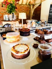 The delicious cakes by Laura Bakes which accompanied our crafty day at The Cartshed Cafe