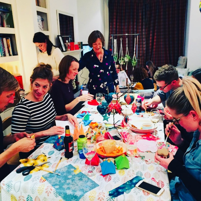 Craft with friends and drinks - a great combo!